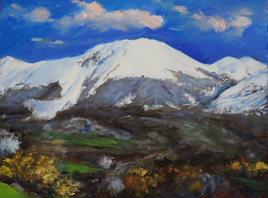 Landscape Painting - Macukulli Madheshtoreland by Sefedin Stafa
