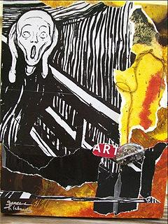Scream Painting - Mad About Art by Jenell Richards