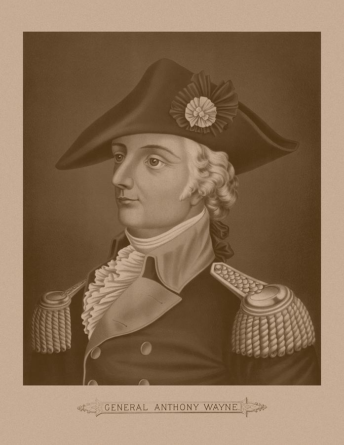 Revolutionary War Mixed Media - Mad Anthony Wayne by War Is Hell Store