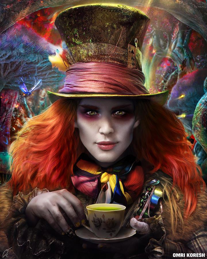 Hatter Digital Art - Mad As A Hatter by Omri Koresh
