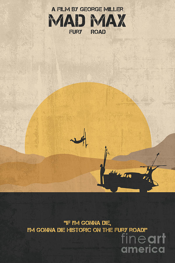 Préférence Mad Max Minimalist Movie Poster Painting by Celestial Images QB88