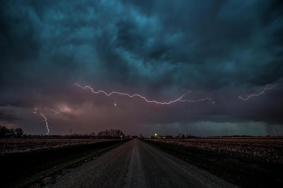 Lightning Photograph - Mad Sky  by Aaron J Groen