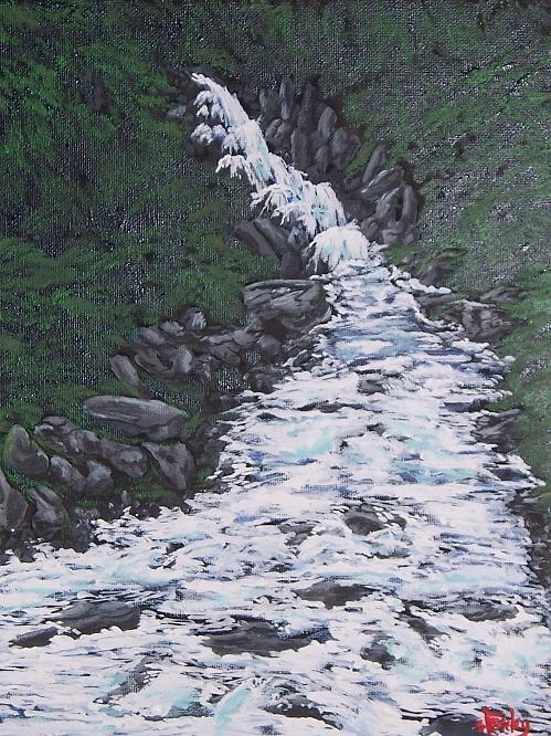 Landscape Painting - Mad Spring Runoff by David Stanley