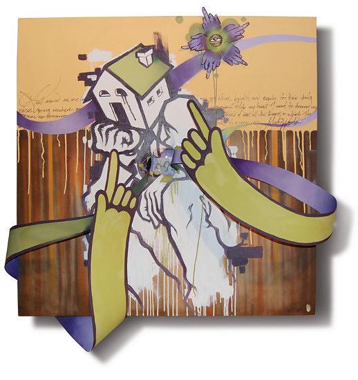 Grafitti Painting - Mad World 09 by Ruben  Ubiera
