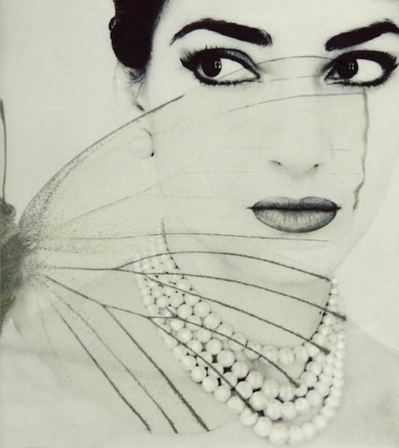 Maria Callas Digital Art - Madam Butterfly - Maria Callas  by Paul Lovering