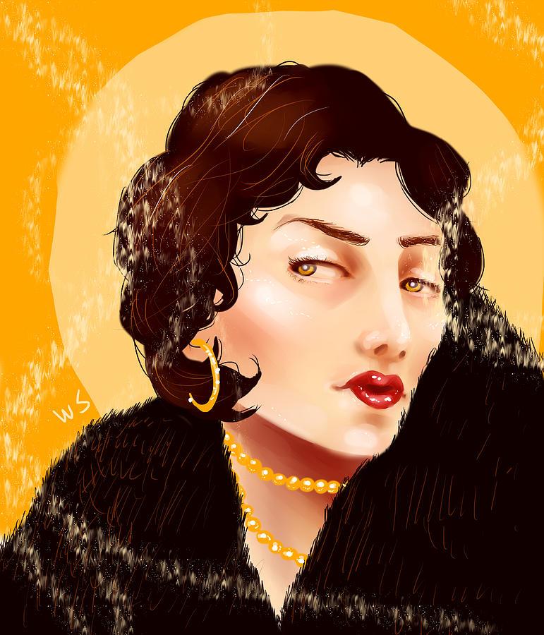 Woman Digital Art - Madam Carbon by Willow Schafer