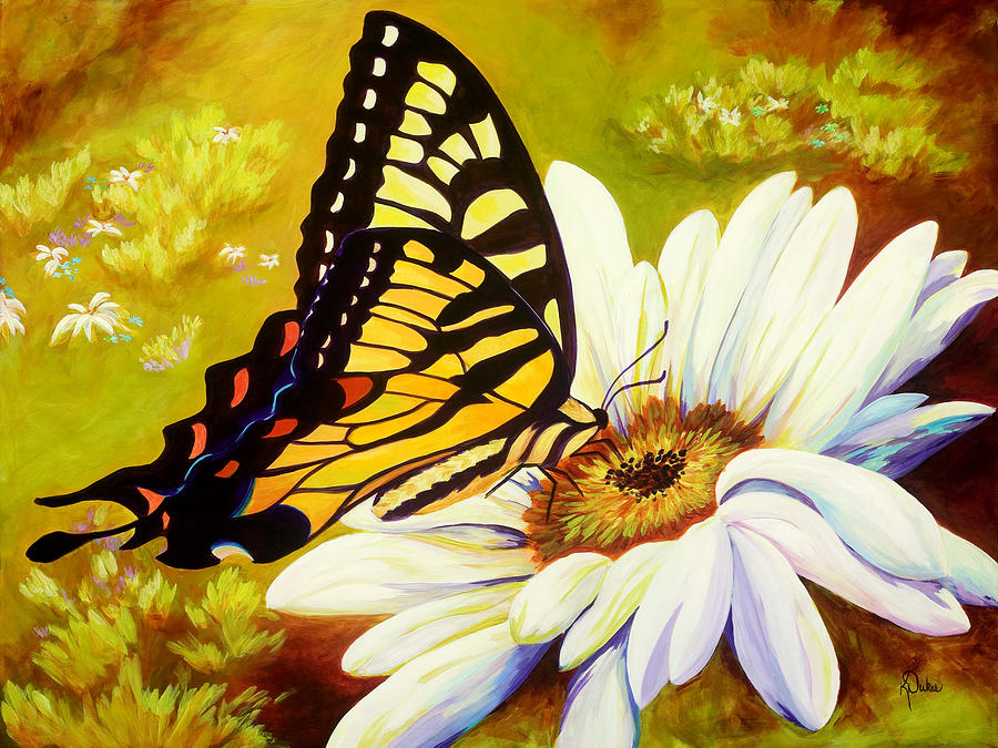 Butterfly Painting - Madame Butterfly by Karen Dukes
