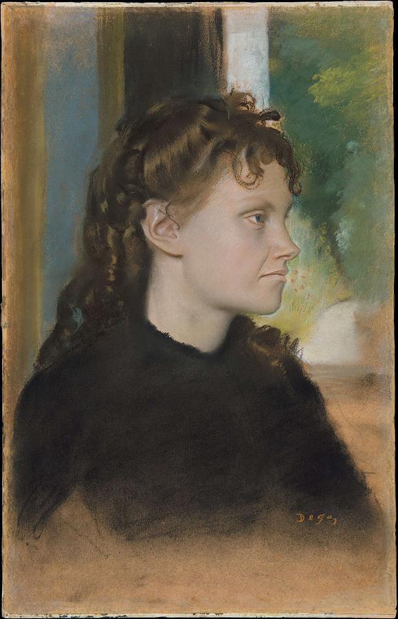 Girl Painting - Madame Theodore Gobillard Yves Morisot, 1838-1893 , Edgar Degas French, Paris 1834-1917 Paris by Artistic Rifki