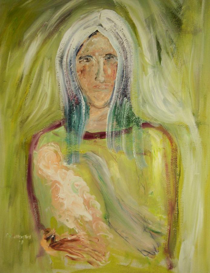 Portrait Painting - Madanna by Edward Wolverton