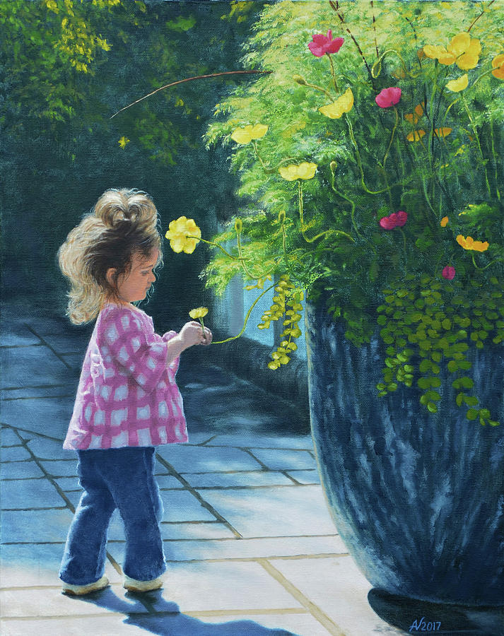 Maddy with Flowers by Alex Vishnevsky