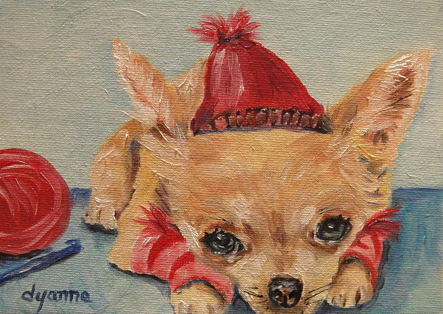 Puppy Painting - Made By Mom by Dyanne Parker