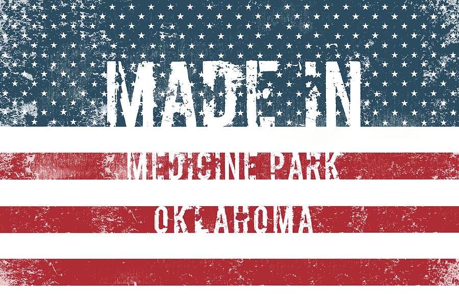 Medicine Park Digital Art - Made In Medicine Park, Oklahoma by Tinto Designs