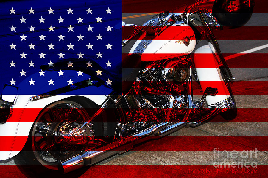 Wingsdomain Photograph - Made In The Usa . Harley-davidson . 7d12757 by Wingsdomain Art and Photography