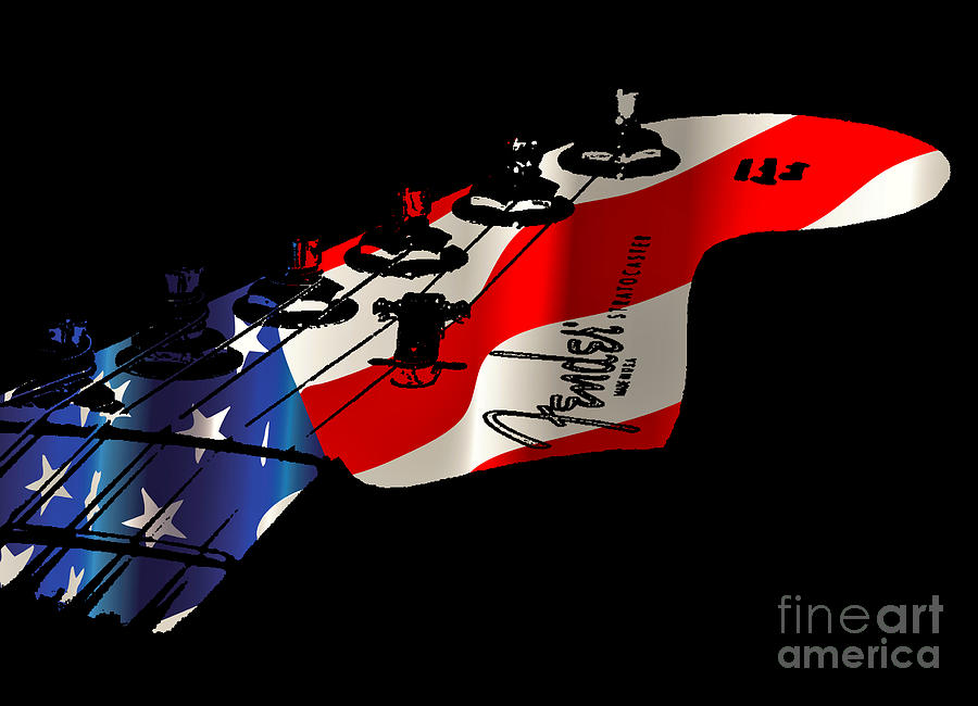 Fender Digital Art - Fender - American Made by Michael Bergman