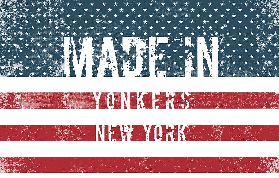 Yonkers Digital Art - Made in Yonkers, New York by Tinto Designs