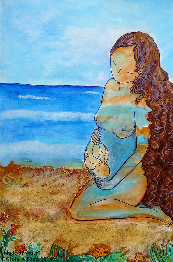 Pregnancy Image Painting - Made Of Water by Gioia Albano