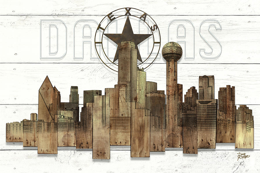 Made-to-order Dallas Texas Skyline Wall Art by Doug Kreuger