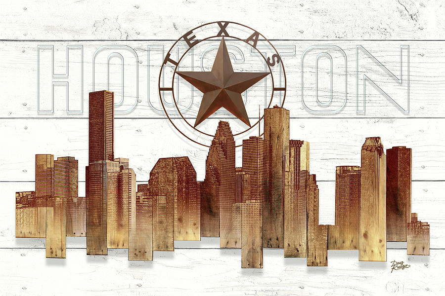 Made-To-Order Houston Texas Skyline Wall art by Doug Kreuger