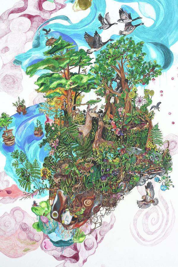 Madeline Island Drawing - Madeline Island by Sarah Holst