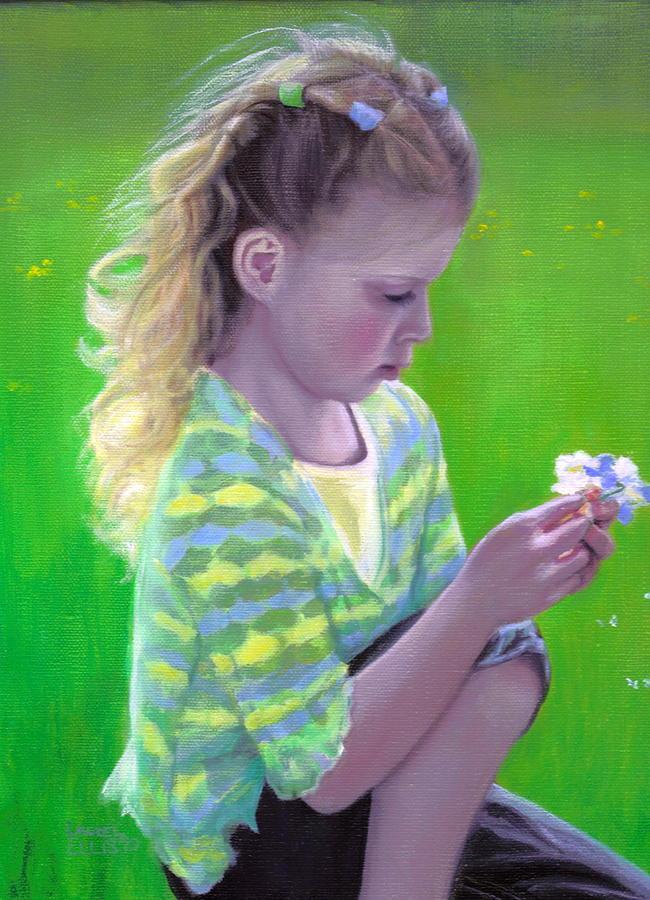 Girl Painting - Madeline by Laurel Ellis