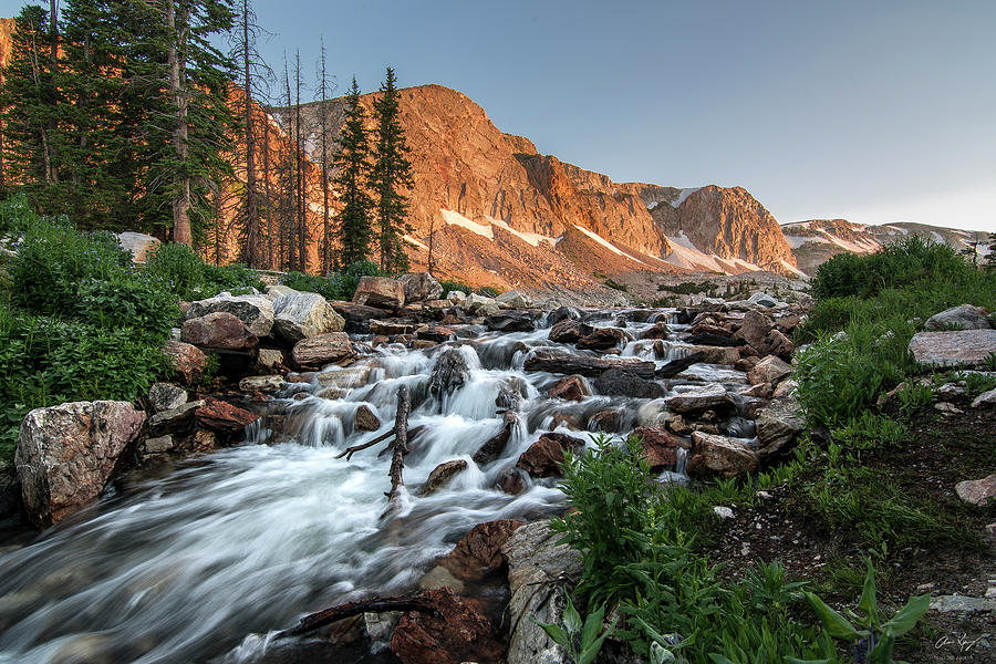 Medicine Bow Photograph - Madicine Bow Waterfall by Aaron Spong