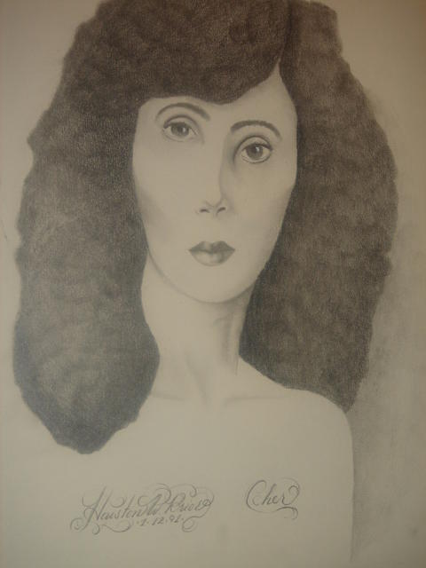 Madigliani Cher Sold Drawing by Houston Prior
