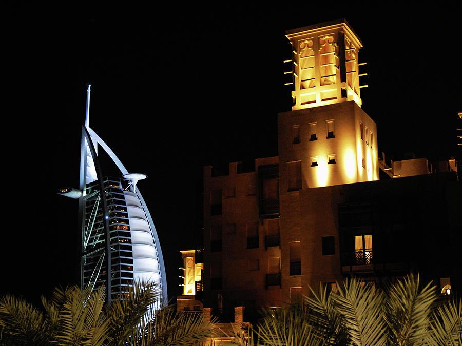 7 Star Hotel Photograph - Madinat And Burj Al Arab Hotels by Graham Taylor