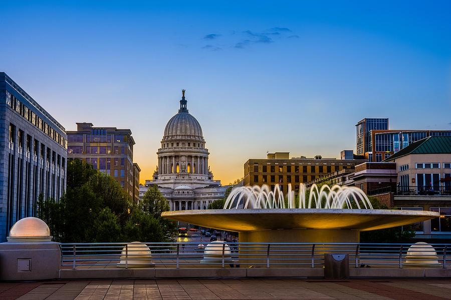 Madison Photograph - Madison Domes by Mark Goodman
