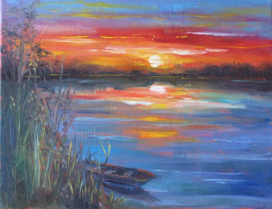 Madison Lake Mn Painting by Tamara Geddes