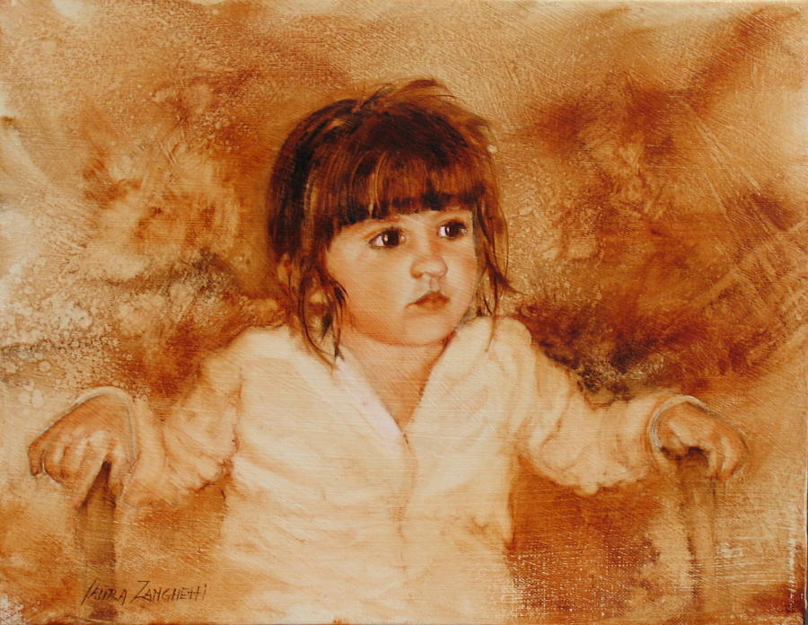 Child Painting - Madison by Laura Lee Zanghetti