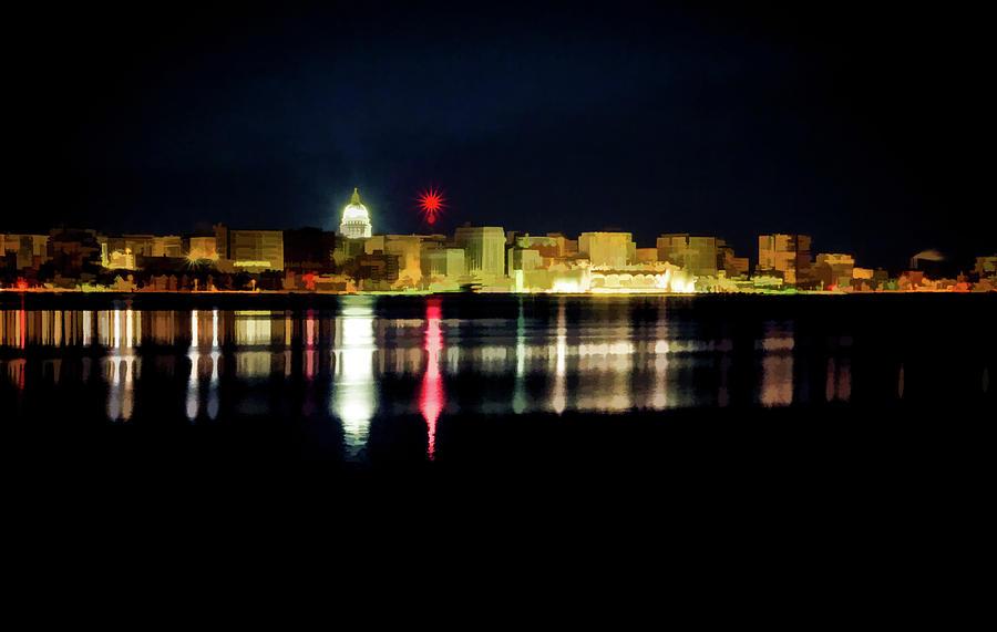 Madison Skyline by Carl Simmerman