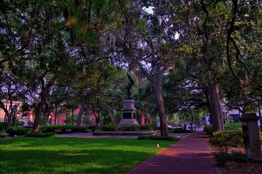 Savannah Photograph - Madison Square In Hdr by Jason Blalock