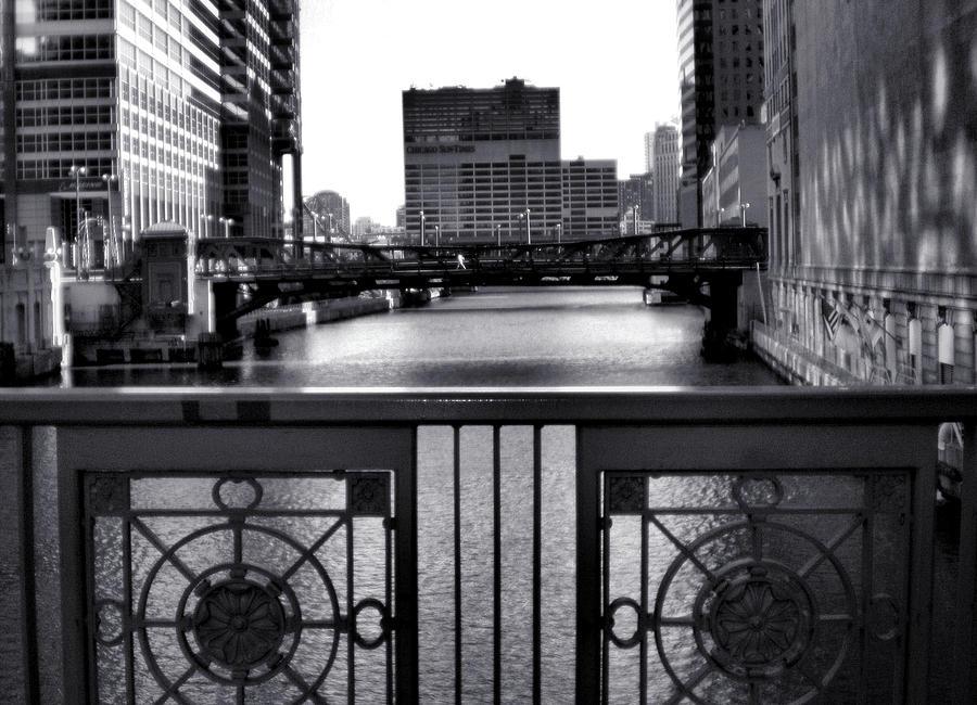 Chicago River Photograph - Madison Street Bridge - 3 by Ely Arsha