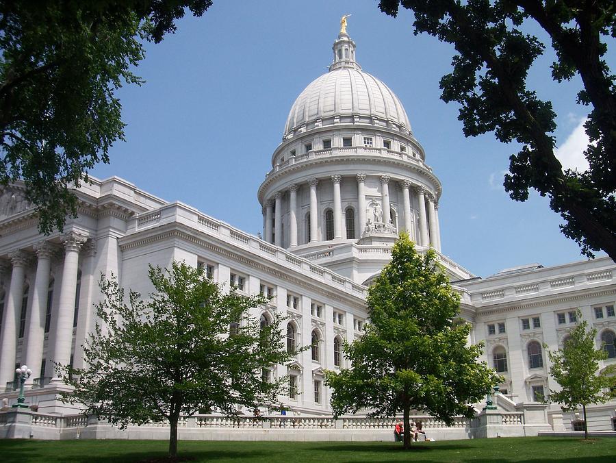Madison Photograph - Madison Wi State Capitol by Anita Burgermeister