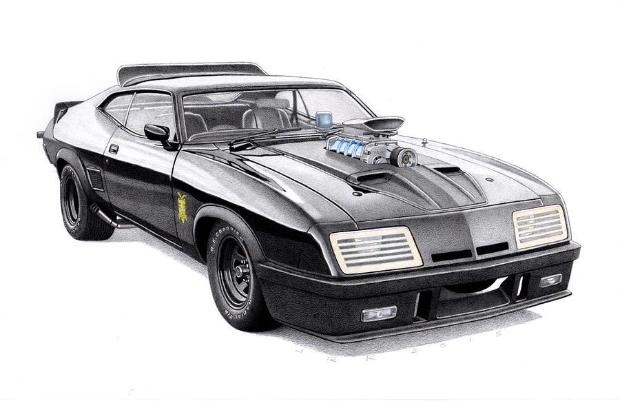 Mad Max Interceptor For Sale >> Madmax Interceptor Drawing by James Robert
