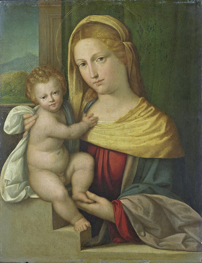 Madonna And Child Painting - Madonna And Child by Benvenuto Tisi
