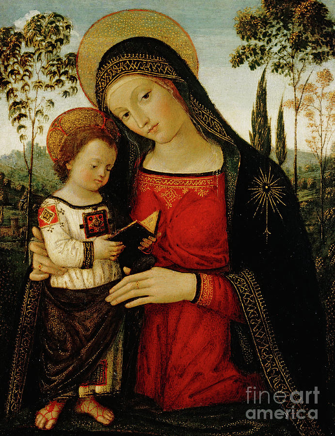 Madonna And Child Painting - Madonna And Child by Bernardino di Betto Pinturicchio