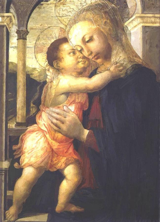 Madonna Painting - Madonna And Child by Botticelli Sandro