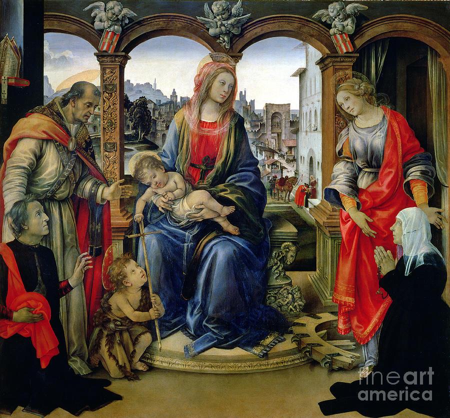 Nerli Painting - Madonna And Child by Filippino Lippi