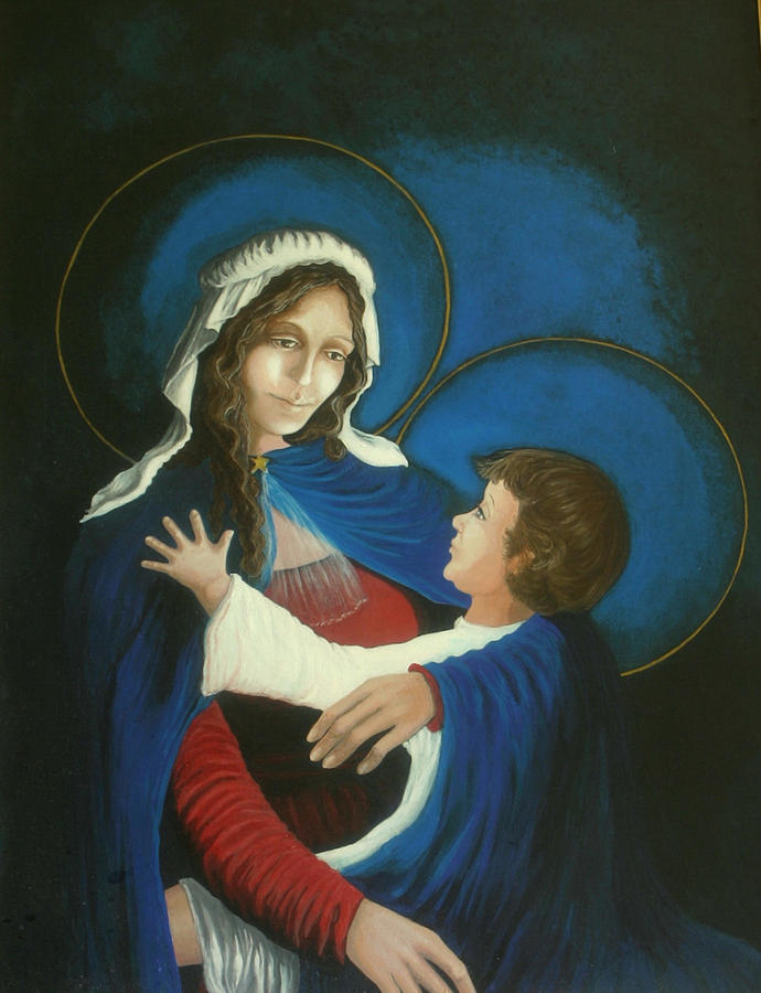 Madonna And Child Painting - Madonna and Child by Georgette Backs