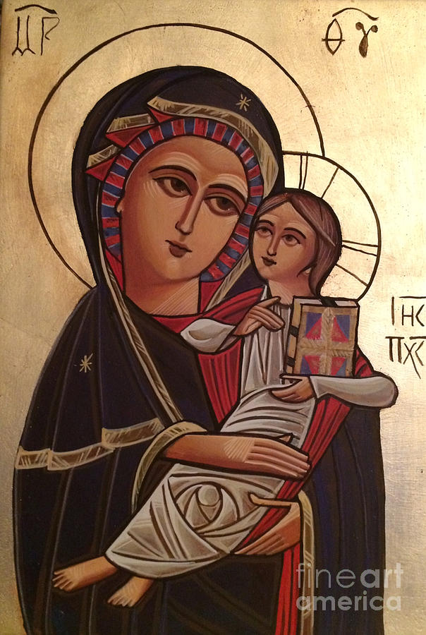 Iconology Painting - Madonna And Child by Michelle Deyna-Hayward