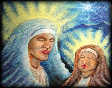 Christmas Painting - Madonna And Christ Child by Ronald Johnson