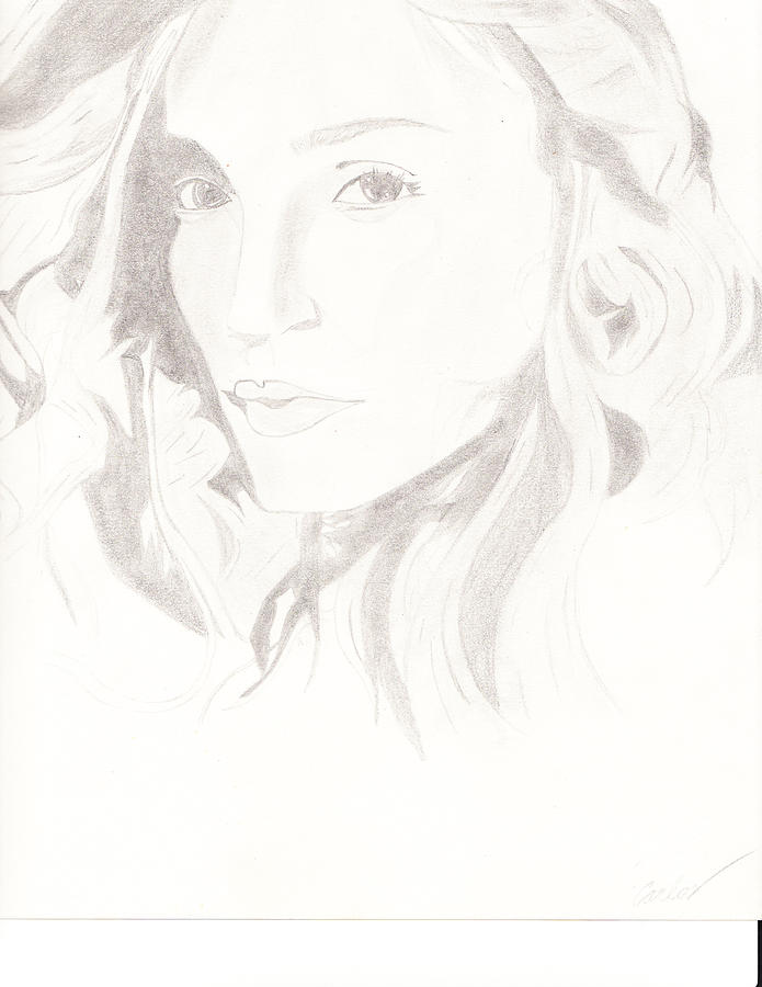 Celebrities Drawing - Madonna by Carlos Hyman