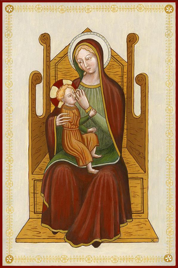 Madonna del Latte - Madonna nursing by Raffaella Lunelli