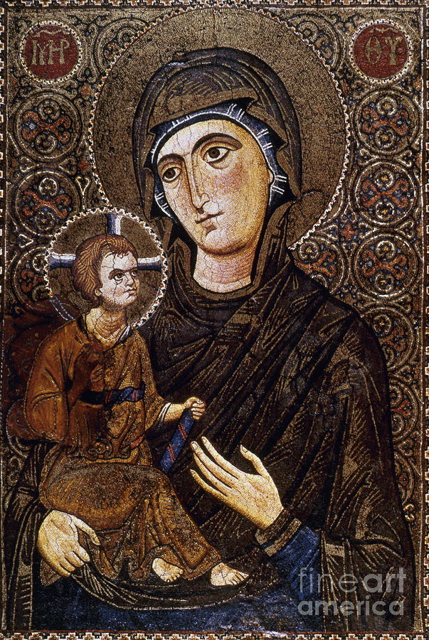 13th Century Photograph - Madonna Icon by Granger