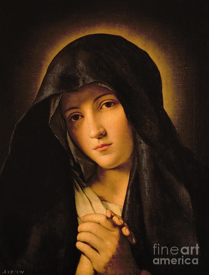 Mary Painting - Madonna by Il Sassoferrato