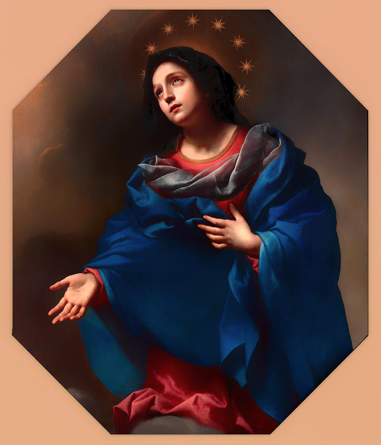 Painting Painting - Madonna In Glory by Mountain Dreams