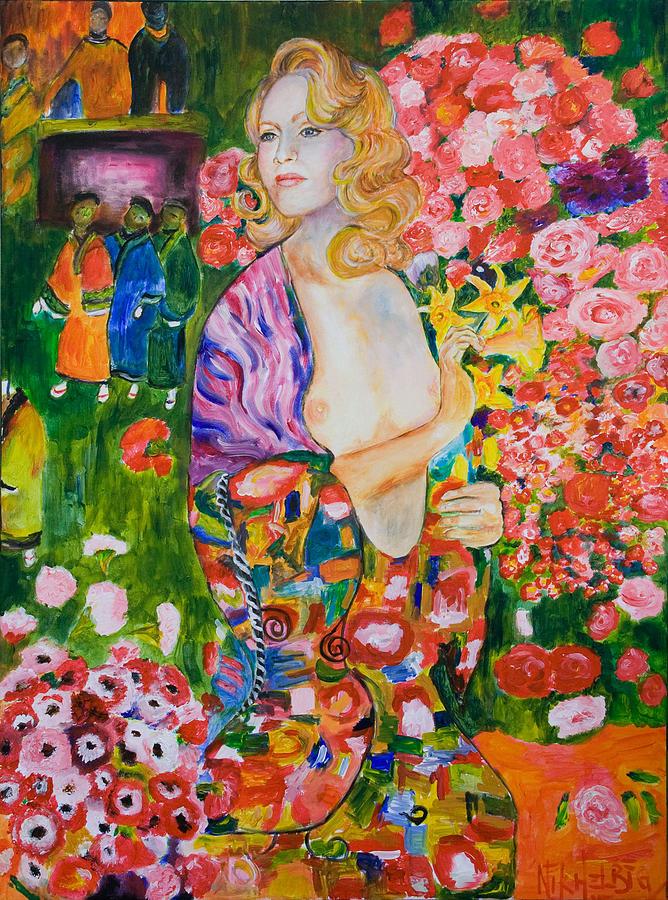Madonna Painting - Madonna In Klimt by Nik Helbig