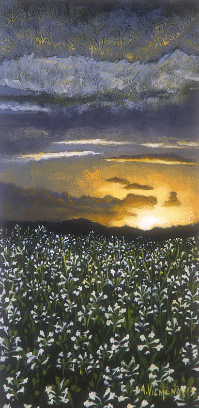 Acrylic Painting - Madonna Lily Valley by Arturo Vilmenay