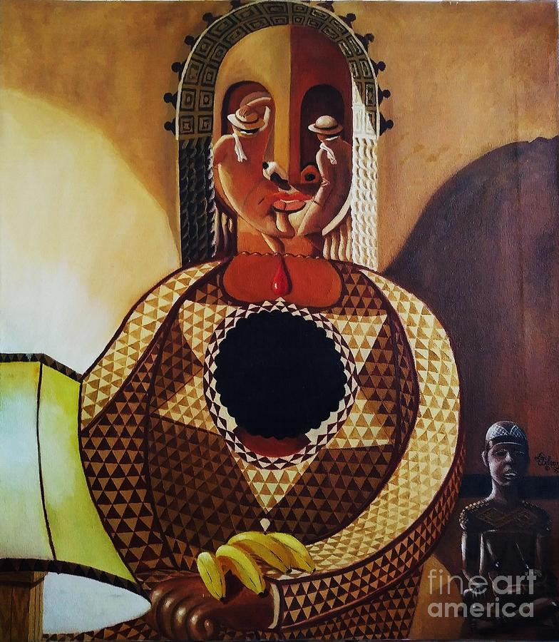 Black Madonna Painting - Madonna Of The Nappyhead Christ by David G Wilson